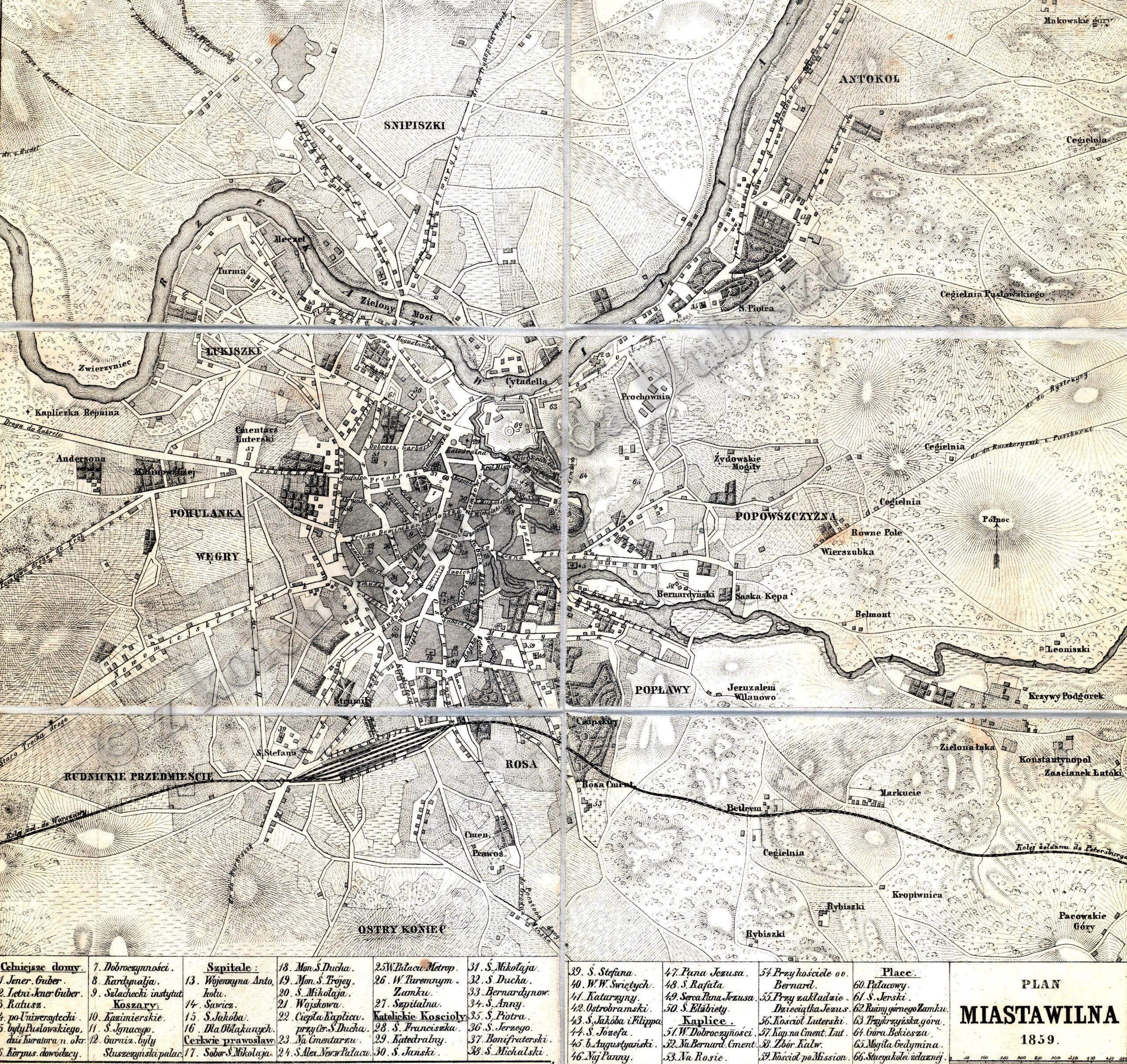 Vilniaus miesto planas 1859m_
